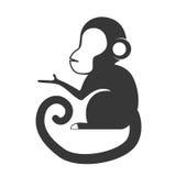 Cartoon monkey icon. Cute animal design. Vector graphic Stock Images