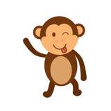 Cartoon monkey icon. Cute animal design. Vector graphic Royalty Free Stock Photos