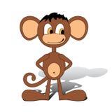 Cartoon monkey illustration Stock Photo