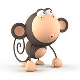 Cartoon  monkey isolated on white background Stock Image