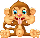 Cartoon monkey making a teasing face Stock Photo