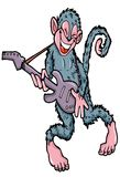 Cartoon monkey playing guitar Stock Photography