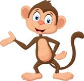 Cartoon monkey presenting Royalty Free Stock Image