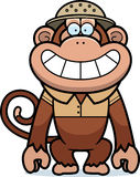 Cartoon Monkey Safari. A cartoon illustration of a monkey in a safari outfit and pith Royalty Free Stock Images