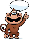 Cartoon Monkey Talking Stock Photo