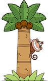 Cartoon Monkey Tree Royalty Free Stock Image