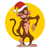 Cartoon monkey. Vector illustration. Funny character for New year and Christmas Royalty Free Stock Photos