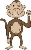 Cartoon monkey waving Stock Image