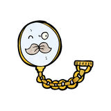 Cartoon monocle Royalty Free Stock Image