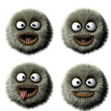 Cartoon monster. 3 d cartoon furry monster Royalty Free Stock Photography
