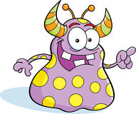 Cartoon monster. Cartoon illustration of a monster pointing royalty free illustration