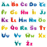 Cartoon monster alphabet. Vector illustration Royalty Free Stock Photos