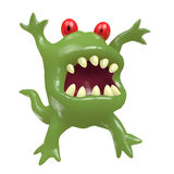 Cartoon monster big head. 3D illustration. Royalty Free Stock Image