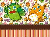 Cartoon Monster card Stock Images