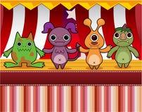Cartoon Monster card Stock Photo