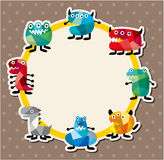 Cartoon monster card Stock Photos