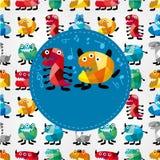 Cartoon monster card Royalty Free Stock Photo