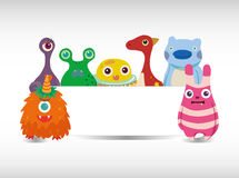 Cartoon monster card Royalty Free Stock Photography
