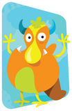 Cartoon monster, cute and funny looking Royalty Free Stock Photography