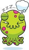 Cartoon Monster Dreaming Stock Image