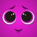 Cartoon monster face Stock Image