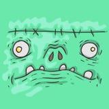 Cartoon monster face. Halloween illustration. Royalty Free Stock Photography
