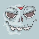 Cartoon monster face. Halloween illustration. Stock Photos