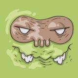 Cartoon monster face. Halloween illustration. Royalty Free Stock Photos