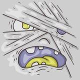 Cartoon monster face. Halloween illustration. Stock Photo