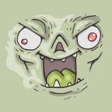 Cartoon monster face. Halloween illustration. Stock Photography