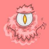 Cartoon monster face. Halloween illustration. Stock Images