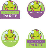 Cartoon Monster Halloween Graphic Stock Photos