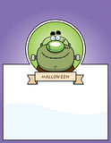 Cartoon Monster Halloween Graphic Royalty Free Stock Photo