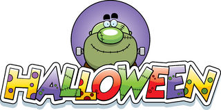 Cartoon Monster Halloween Graphic Royalty Free Stock Photos