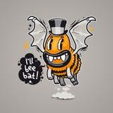 Cartoon Monster I'll Bee Bat Stock Images