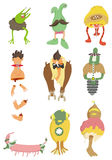 Cartoon monster icon Royalty Free Stock Images