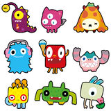 Cartoon monster icon Royalty Free Stock Photo
