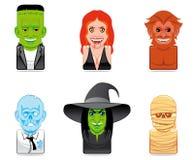 Cartoon monster icons Stock Photo