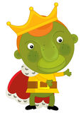 Cartoon monster king - isolated element Stock Photography