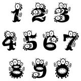 Cartoon monster numerals. The collection of doodle monster numerals for Halloween or other events Stock Photography