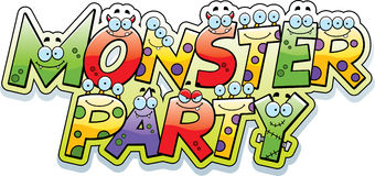 Cartoon Monster Party Text Stock Photography
