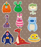 Cartoon monster stickers Royalty Free Stock Images