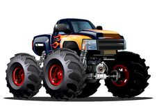 Free Cartoon Monster Truck Royalty Free Stock Photos - 38429138