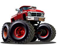 Free Cartoon Monster Truck Royalty Free Stock Photo - 39692195