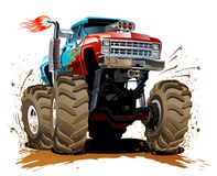 Free Cartoon Monster Truck Royalty Free Stock Image - 42063346