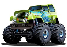 Free Cartoon Monster Truck Royalty Free Stock Images - 43483049