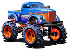 Free Cartoon Monster Truck Royalty Free Stock Photography - 49308817