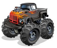 Cartoon Monster Truck. Available EPS-10 separated by groups and layers for easy edit Royalty Free Stock Photo