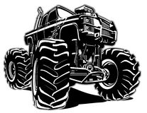 Cartoon Monster Truck. Available EPS-8 separated by groups and layers for easy edit Royalty Free Stock Image
