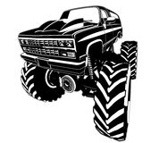 Cartoon Monster Truck Stock Photography